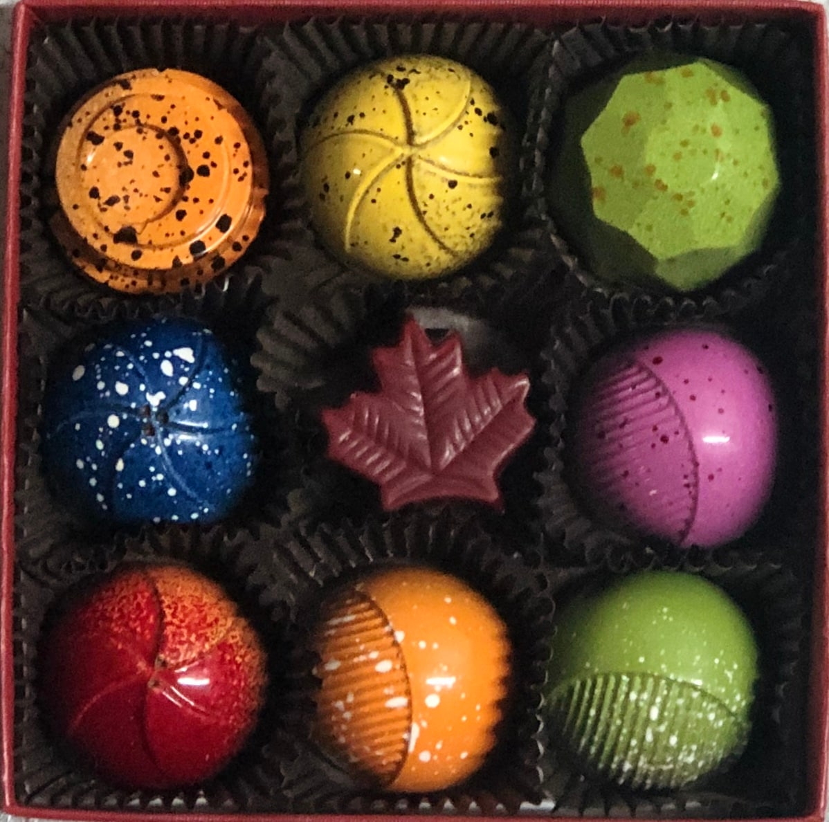 Nutty Chocolatier 9 Piece Airbrushed Box